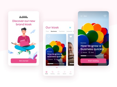 RIDMI - Client Progressive Web App tabbar reading app design product content experience dribbble mobile application ux ui