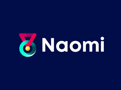 Ridmi + Titchmi = Naomi gradient colors e-learning solution color logo branding