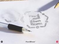 Peer2Desk Brand Idenity - Logo Sketch