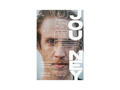 User Journey typography cover magazine graphic design poster