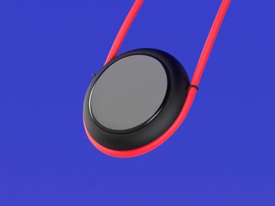 Além do digital wearable redshift mockup industrial design gadget device minimal design c4d concept 3d product design