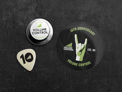Volume Control Merch rock belfast northern ireland merchandise sticker badge plectrum guitar