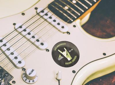 Volume Control Anniversary Sticker