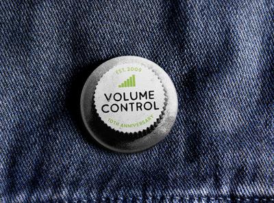 Volume Control Anniversary Badge