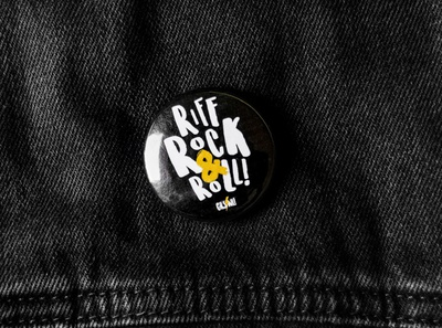 Girls Rock School Northern Ireland Badge girls rock pin badge badges merch design logo lettering music merchandise branding rock belfast northern ireland