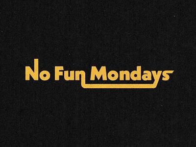 No Fun Mondays merchandise rock belfast northern ireland wordmark green day punk the stooges iggy pop music logo branding design branding