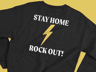 Stay Home Rock Out! girls rock music rock belfast design northern ireland branding merchandise