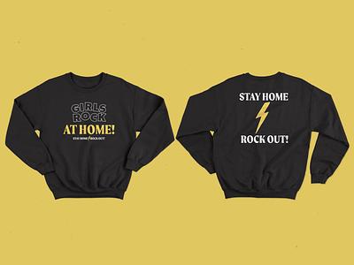 Girls Rock At Home! girls rock merch design design music rock belfast northern ireland branding merchandise