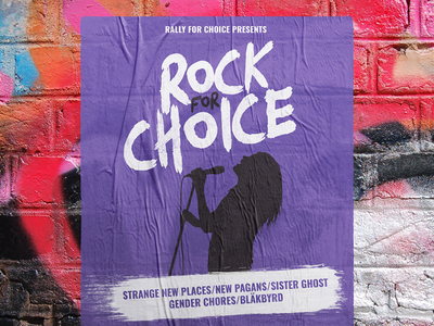 Rock For Choice womens rights prochoice activism rock belfast northern ireland poster concert poster