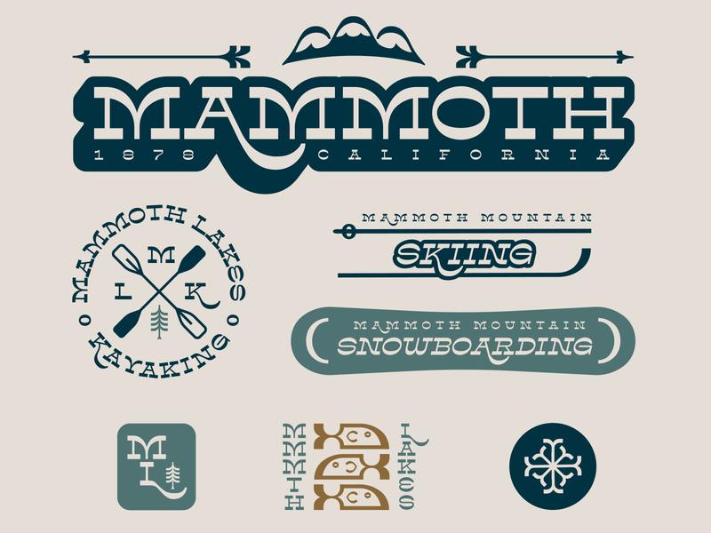 Mammoth Lakes - Adventures For Every Season! illustrator icon typography design branding logo illustration