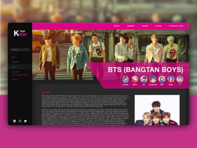 BTS Profile Page