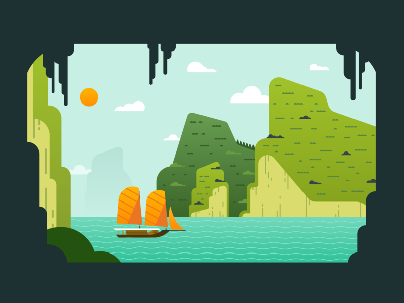 Ha Long Bay Illustration illustration design