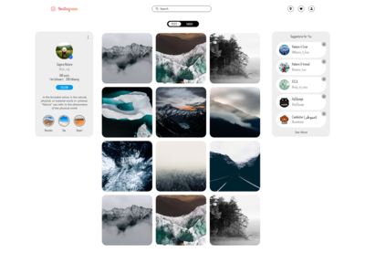 Page Profile Instagram WEB REDESIGN Light mode