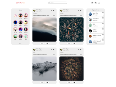 Home Page Instagram WEB REDESIGN light mode
