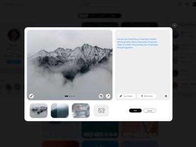 Add New Edit Post Image Instagram WEB REDESIGN light mode