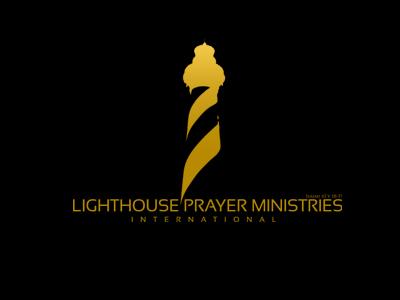 Lighthouse Prayer Ministry Logo church prayer gold illustrator logo lighthouse vector