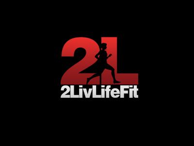 2LivLifeFit Logo brand health runner logo gym running fitness numbers