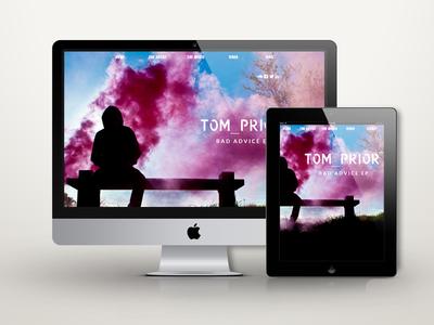 Tom Prior Website css3 html5 parallax custom theme wordpress website full screen responsive music