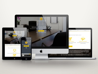 22 Harley Street Website responsive custom theme css3 wordpress full screen medical website html5