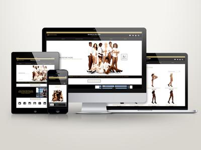 Bianca Miller London Website white gold black nude clean wordpress bespoke theme responsive design online ecommerce models fashion website