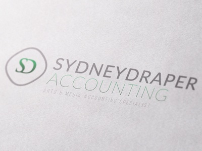 Sydney Draper Accounting Logo/Branding corporate media arts logo mark accounting branding logo