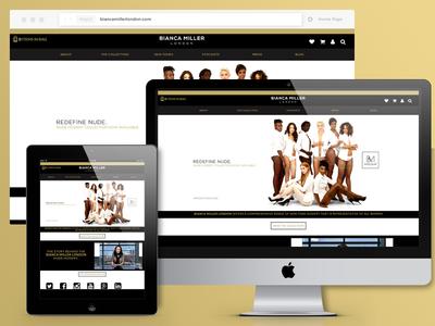 Bianca Miller London wordpress themes responsive browser layout website ux ui ecommerce