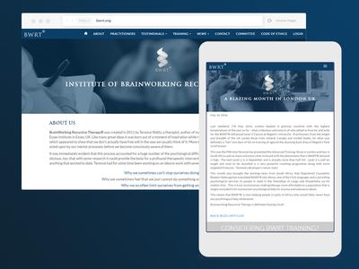 BWRT Website Layout blog professional ux ui responsive design website