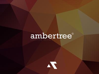 Ambertree Creative Agency Typeface logo marketing creative triangles background abstract typeface illustration branding logo