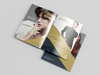 Dare Salon & Academy Brochure 2016 pixels photoshop fashion hair brochure graphics design academy salon magazine
