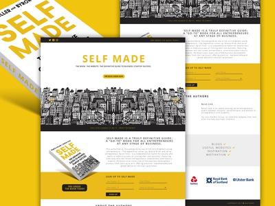 Self Made Book Landing Page book launch concept wordpress book concept landing page book