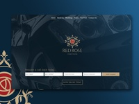 Red Rose Chauffeurs Home Landing Page