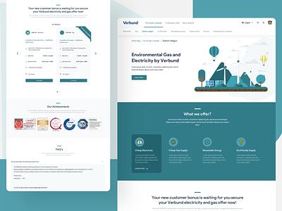 Web page minimal ui  ux website price offer energy webdesign landingpage illustration ux ui