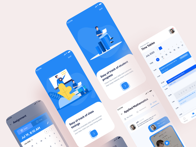 School time table timepicker onboarding chat calander education school timetable time mobiledesign ux ui