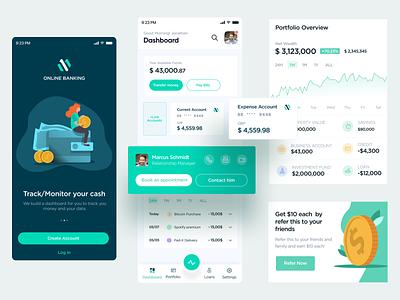Mobile Banking spending income transaction mobile dashboard dashboad bank card offers banking app banking wallet money bank onboarding mobiledesign ux ui
