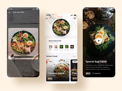 Food Scan food scan scan calories food app food video mobiledesign ux ui
