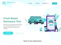 Crash Repair Web Landing Page