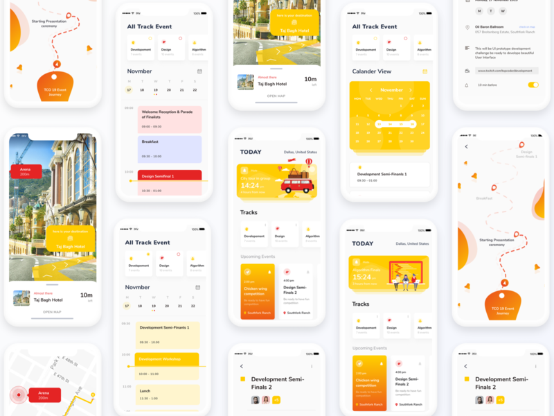 Schedule App timeline cards ui calander time map augmentedreality illustration vector events event event app schedule minimal mobiledesign ux ui