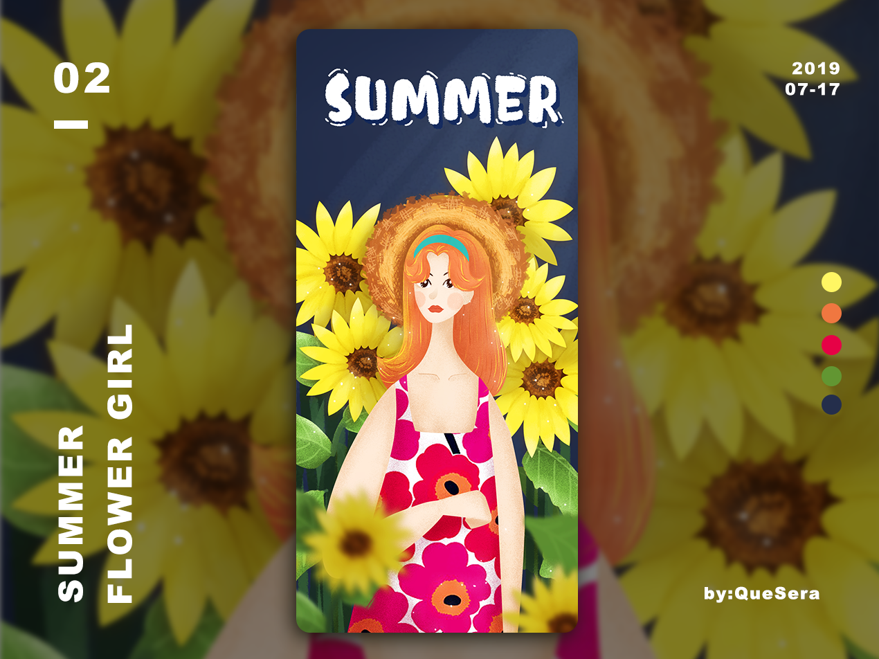 SUMMER-Flower Girl illustration