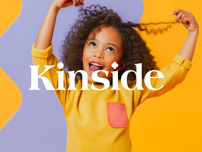 Kinside Branding - Logo logotype layout type branding photography typography design startup childcare children kids logo