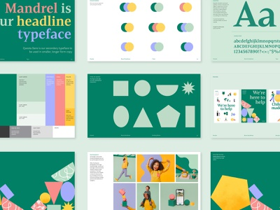 Kinside Branding - Brand Guidelines illustration shapes colorful child care logo branding brand guidelines
