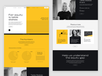 Carta's Table Stakes - Website - Home startup typography layout branding ui website design landing page data visualization infographics equality women fintech carta website finance equity