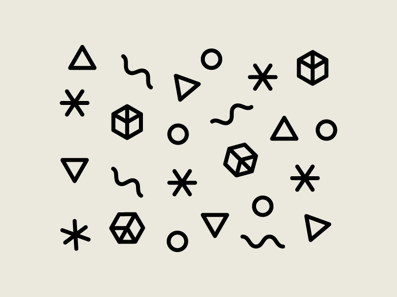 Pattern pattern hipster triangle circle illustration fun party jessica strelioff simple retro icon