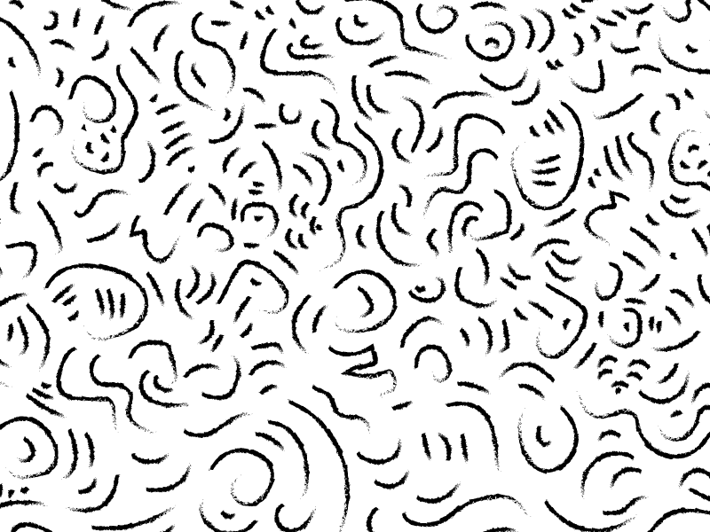 Pattern II squiggle lines black and white pattern