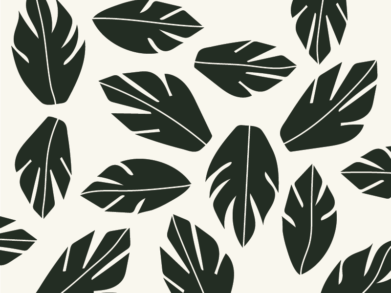 Pattern III nature leaves hand pattern