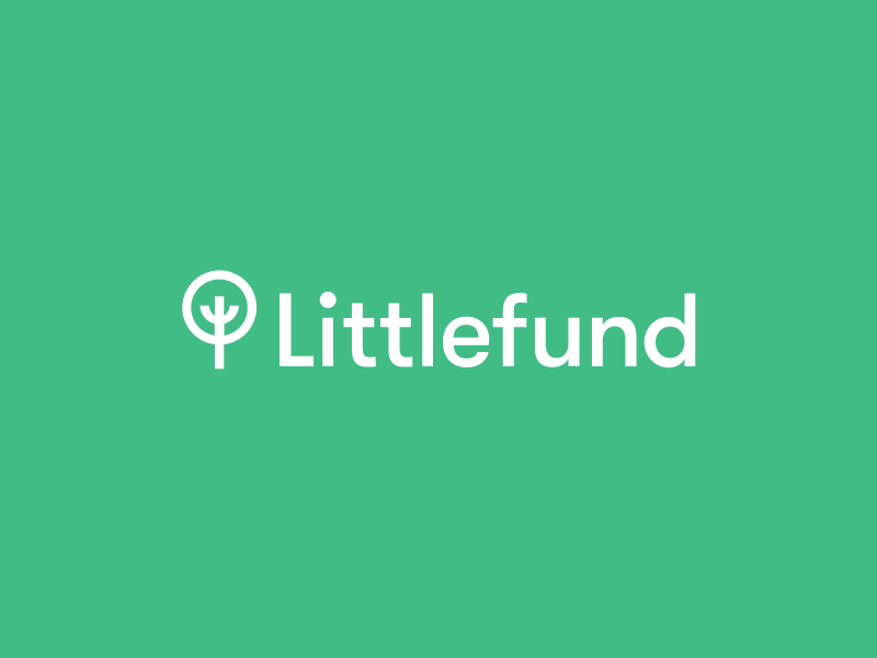 Littlefund gifts money tree finances children littlefund brand mark logo