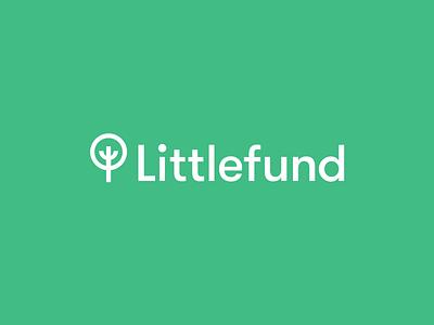 Littlefund gifts money tree finances children littlefund brand mark logo