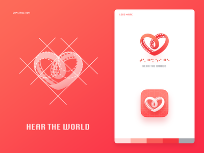 """Hear the world"" logo design"
