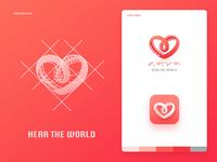 """""""Hear the world"""" logo design"""