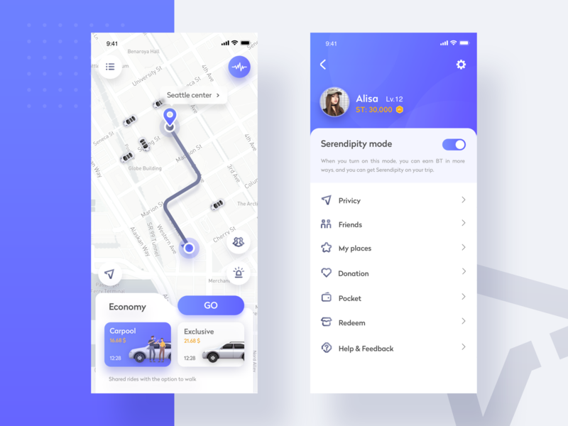 Travel sharing app map blue and white blue sharing travel app design ui