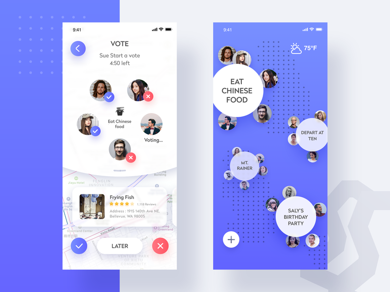 Travel sharing app by YM for VisualMaka on Dribbble